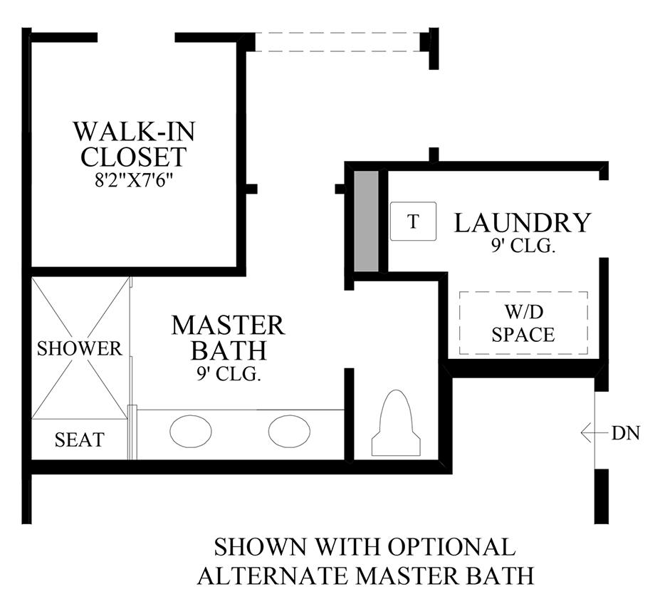 Optional Alternate Master Bath Floor Plan