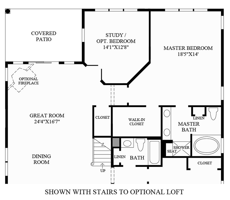 Optional Stairs to Loft Floor Plan
