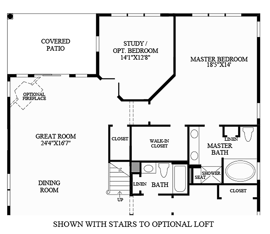 Optional Stairs to Loft Floor Plan