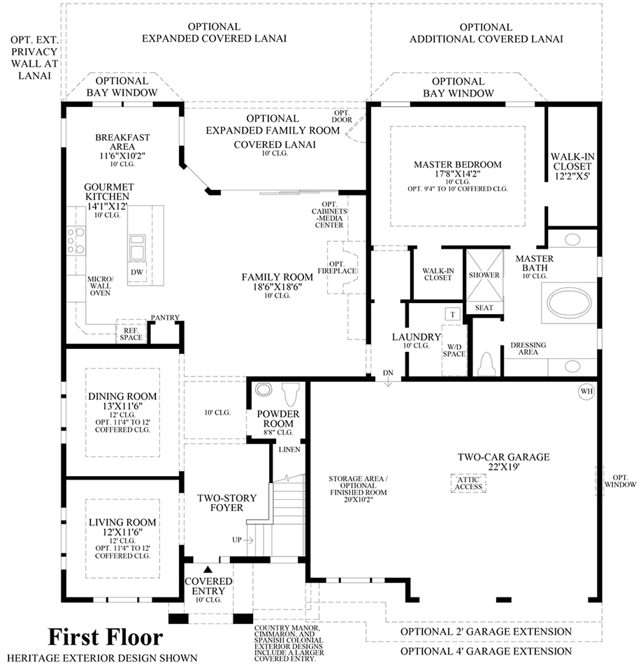 Coastal oaks at nocatee ambassador collection the san for Floor plans first