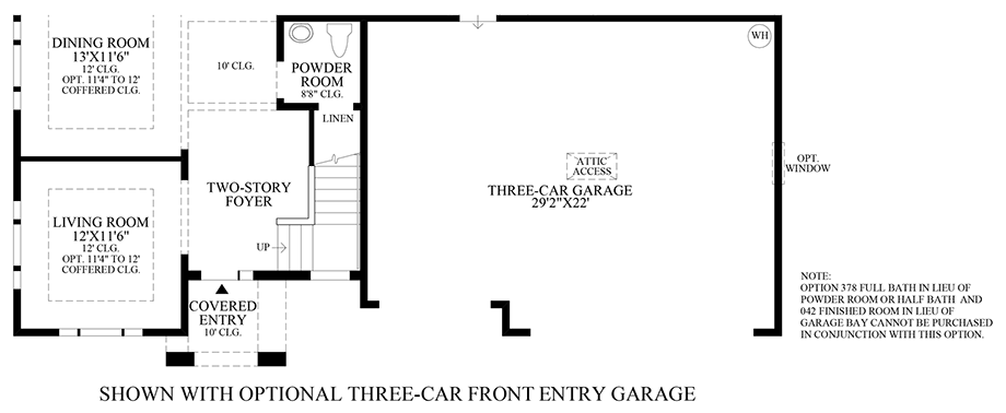Optional 3-Car Front Entry Garage Floor Plan