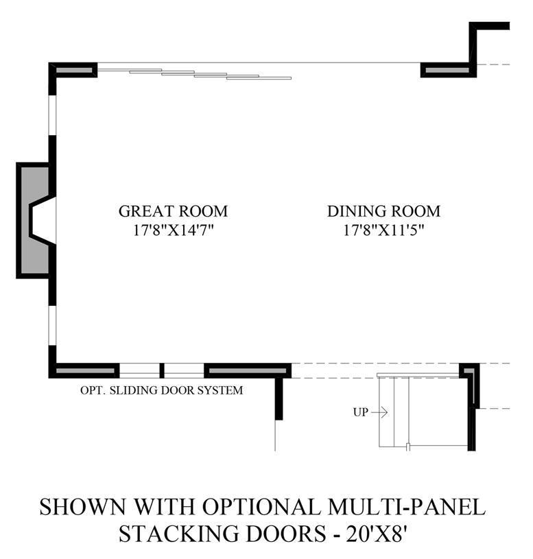 Optional Multi-Panel Stacking Doors