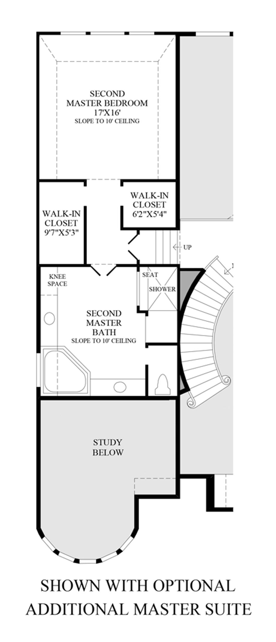 Optional Additional Master Suite Floor Plan