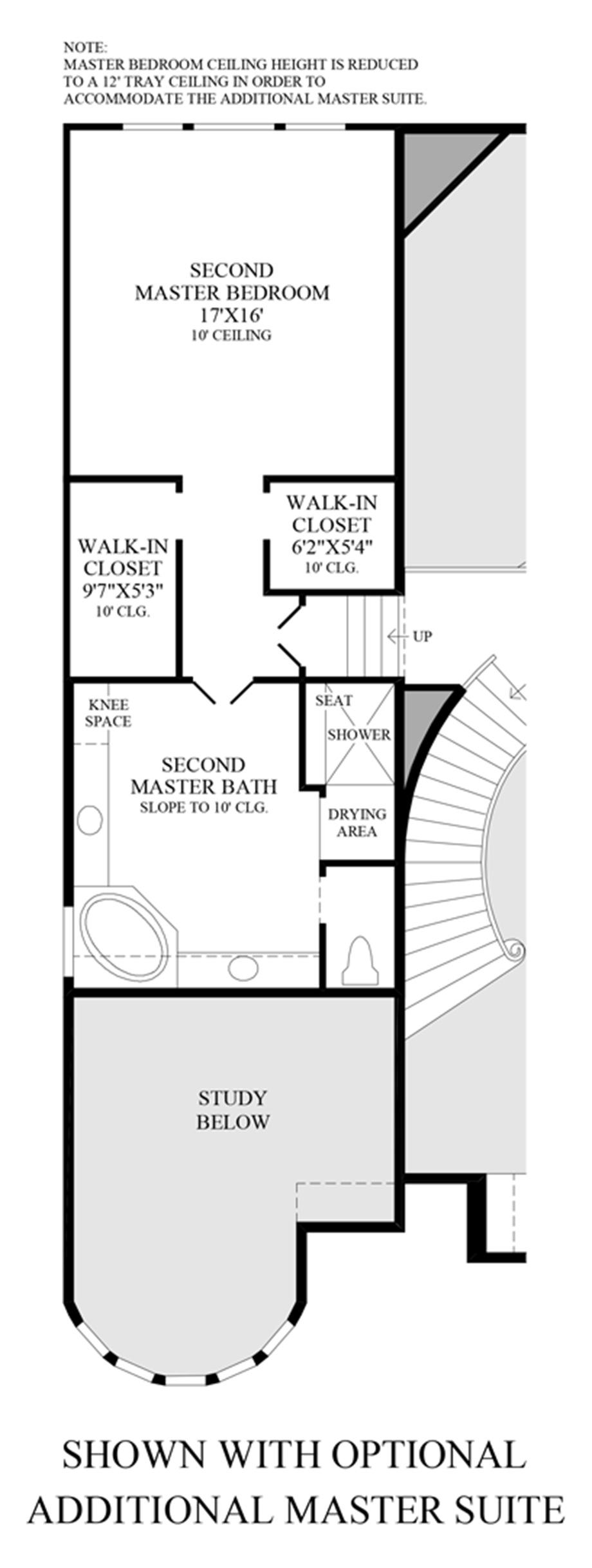 Optional Additional Master Suite Floor Plan