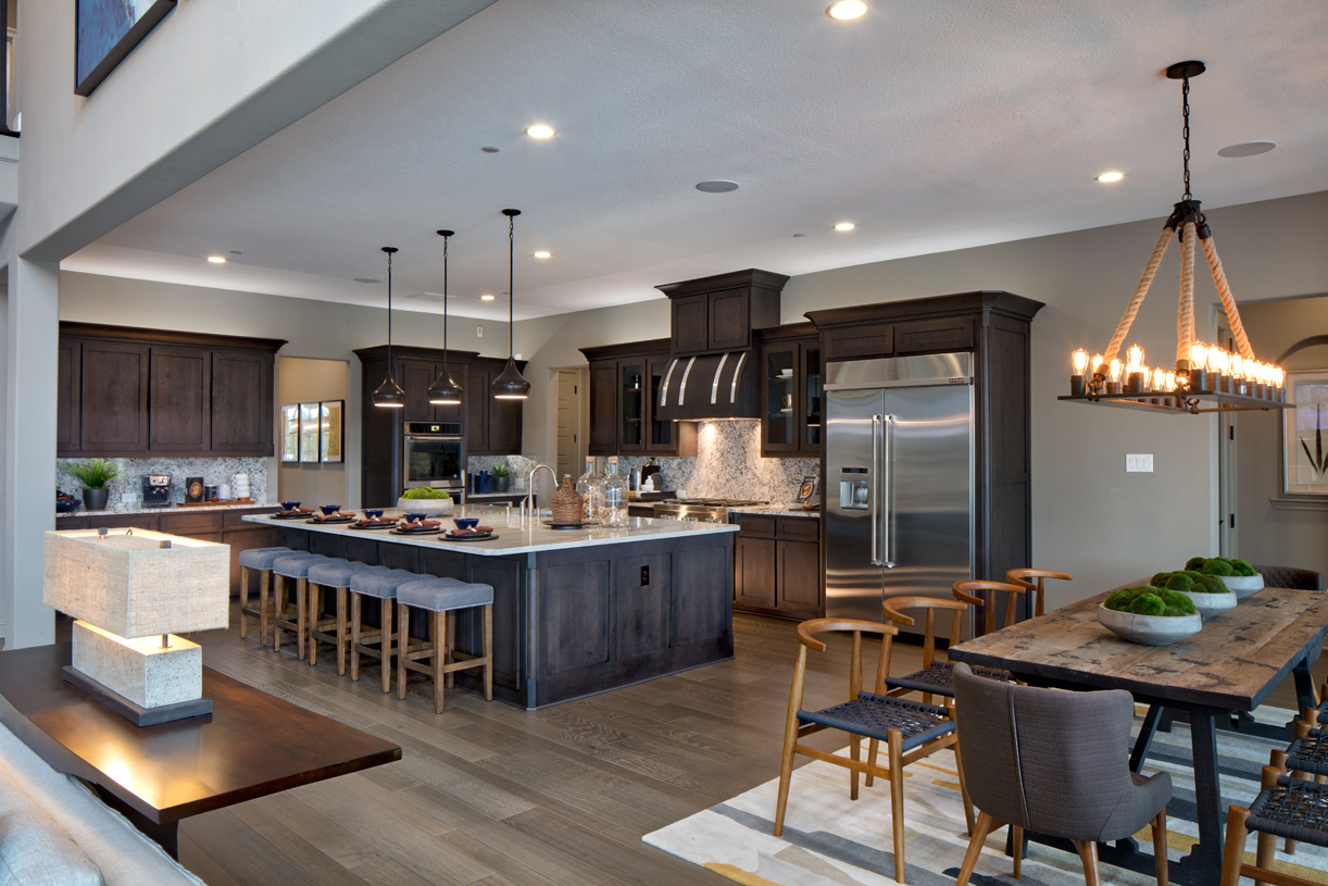 Sophisticated kitchen with a large center island