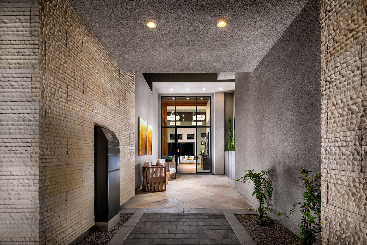 Charming entryway with private parcel locker