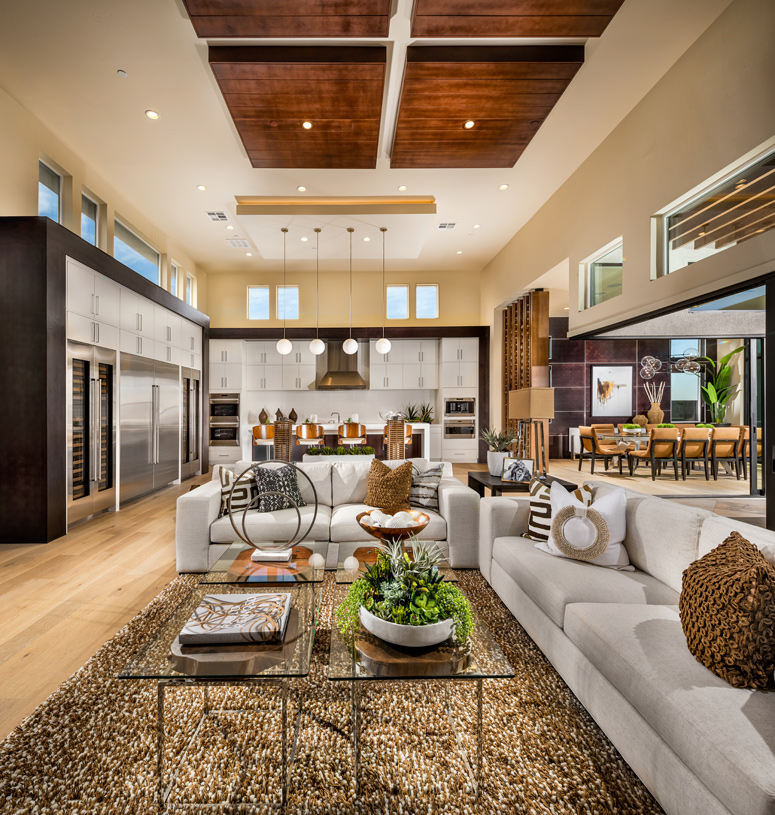 Open and bright floor plan with expansive sliding doors