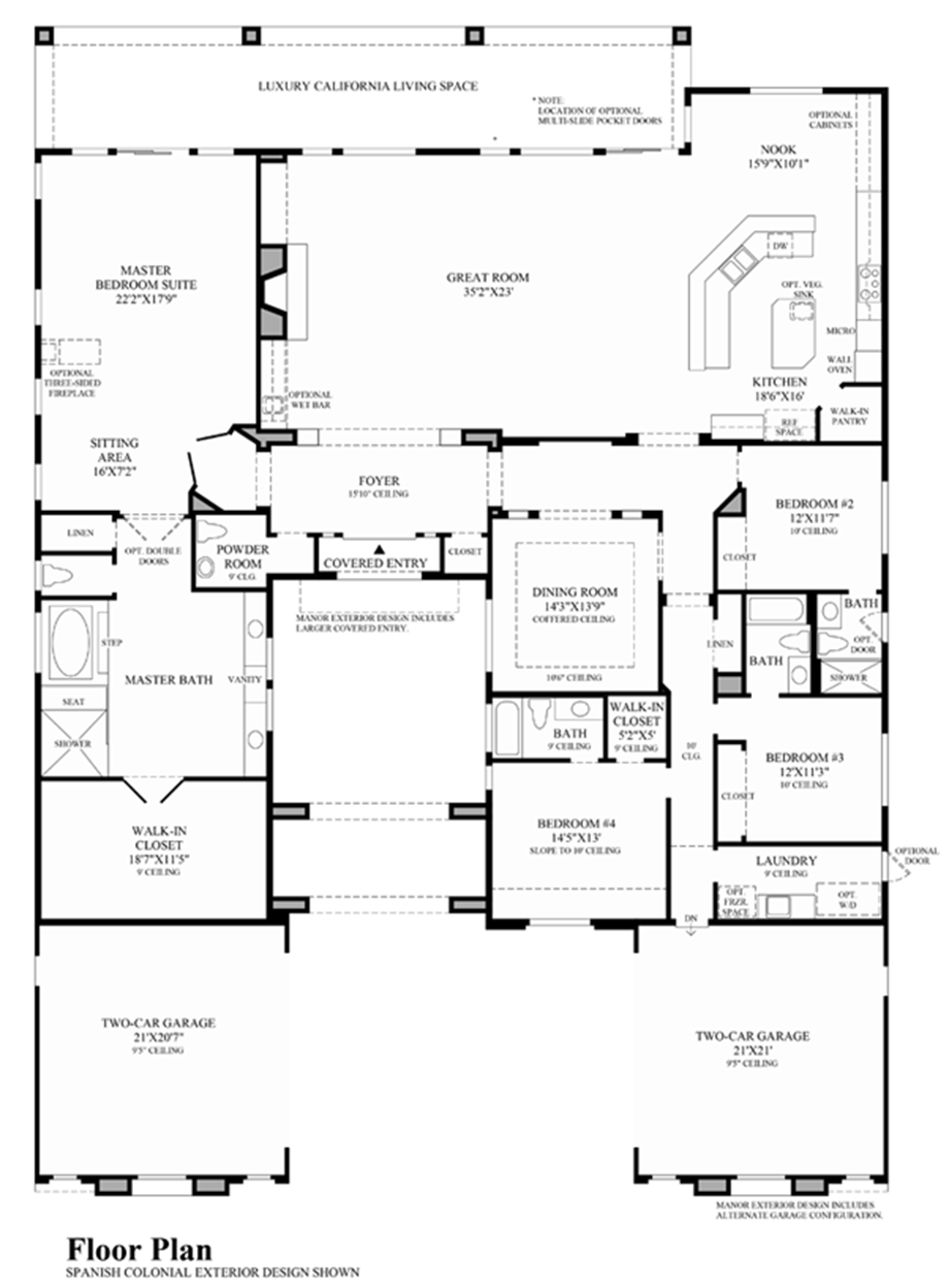 Masters at moorpark country club the santa fe home design for Santa fe floor plans