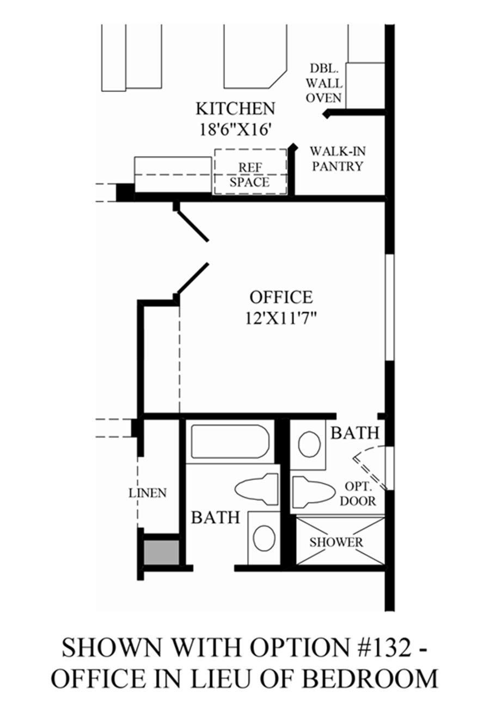 Optional Office ILO Bedroom Floor Plan