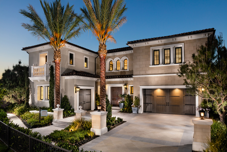 Toll brothers at hidden canyon marbella collection the for New homes photos