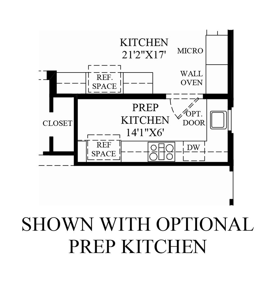 Optional Prep Kitchen Floor Plan