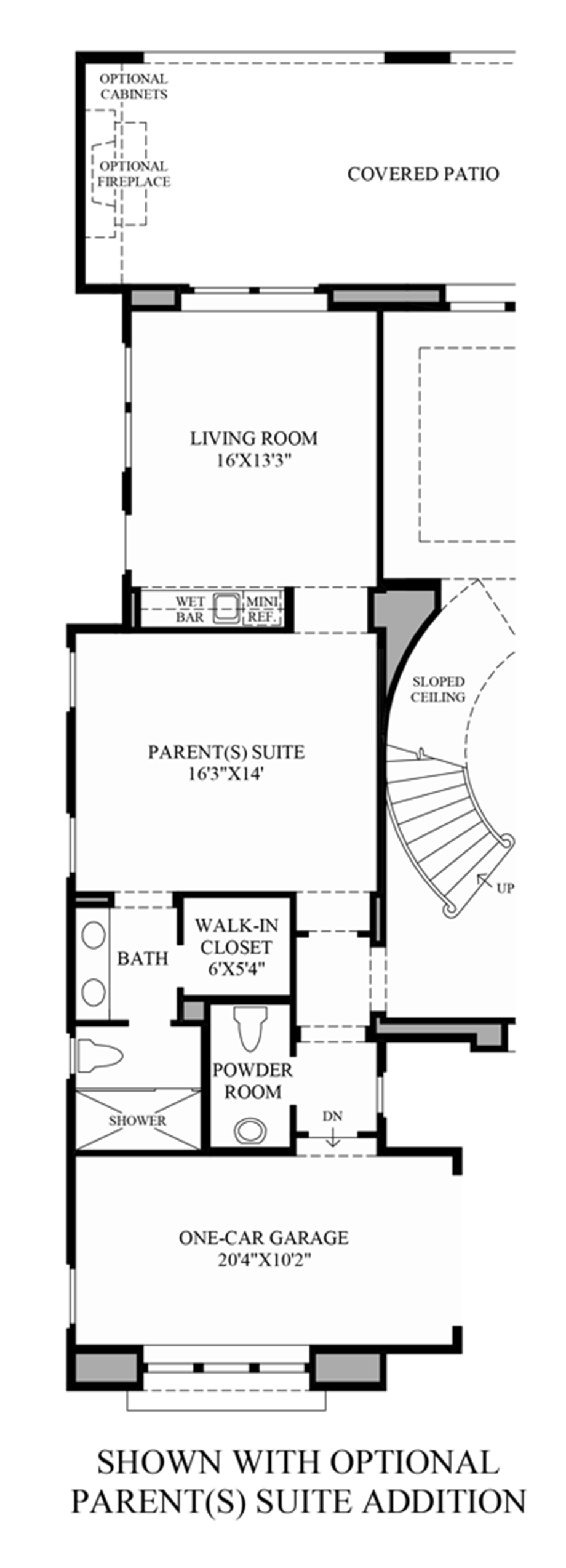 Optional Parent(s) Suite Addition Floor Plan