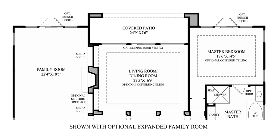 Optional Expanded Family Room Floor Plan