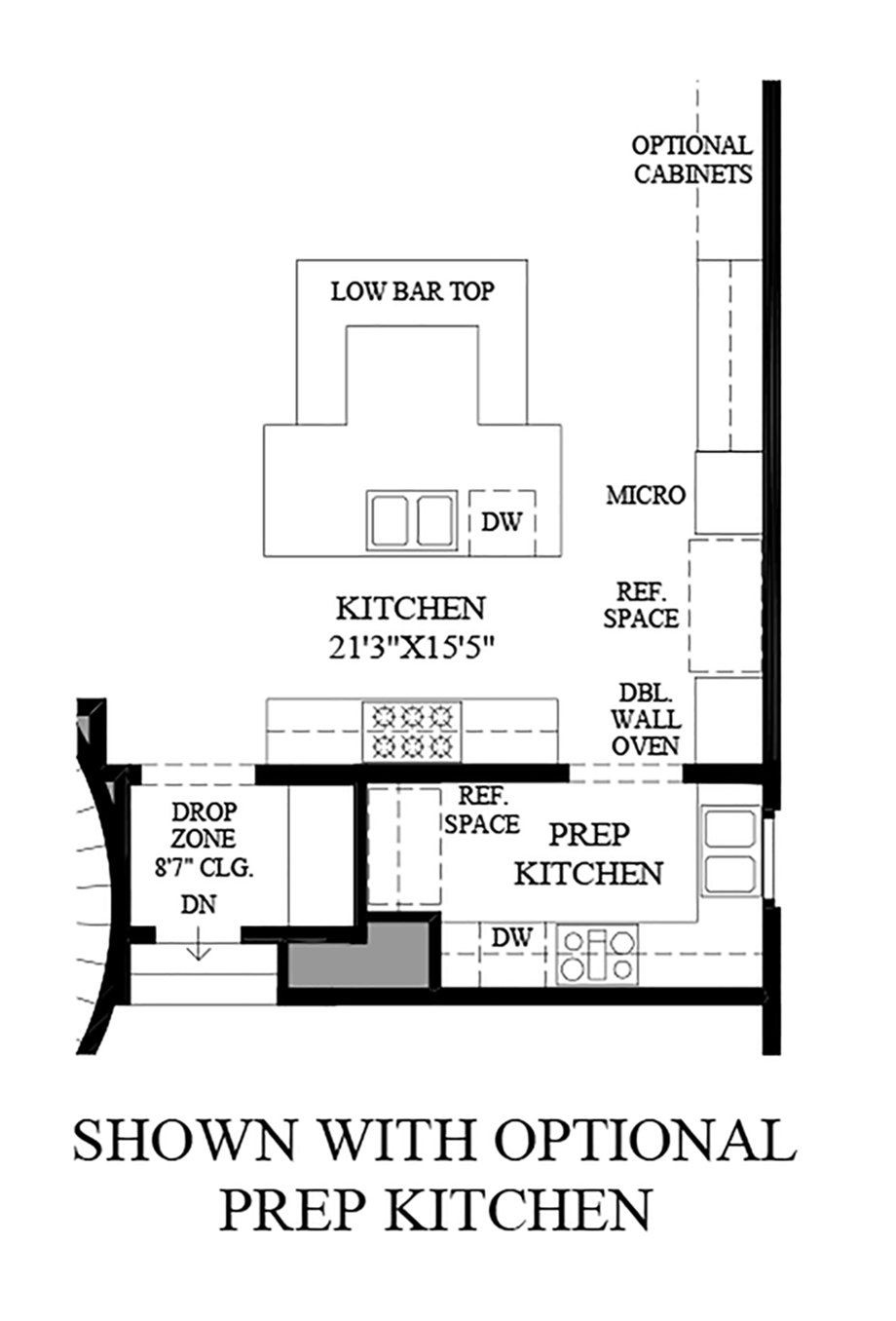 Optional Prep Kitchen