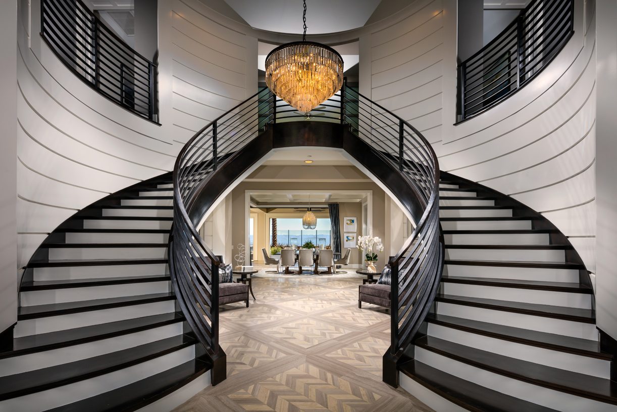Eye-catching dual staircase