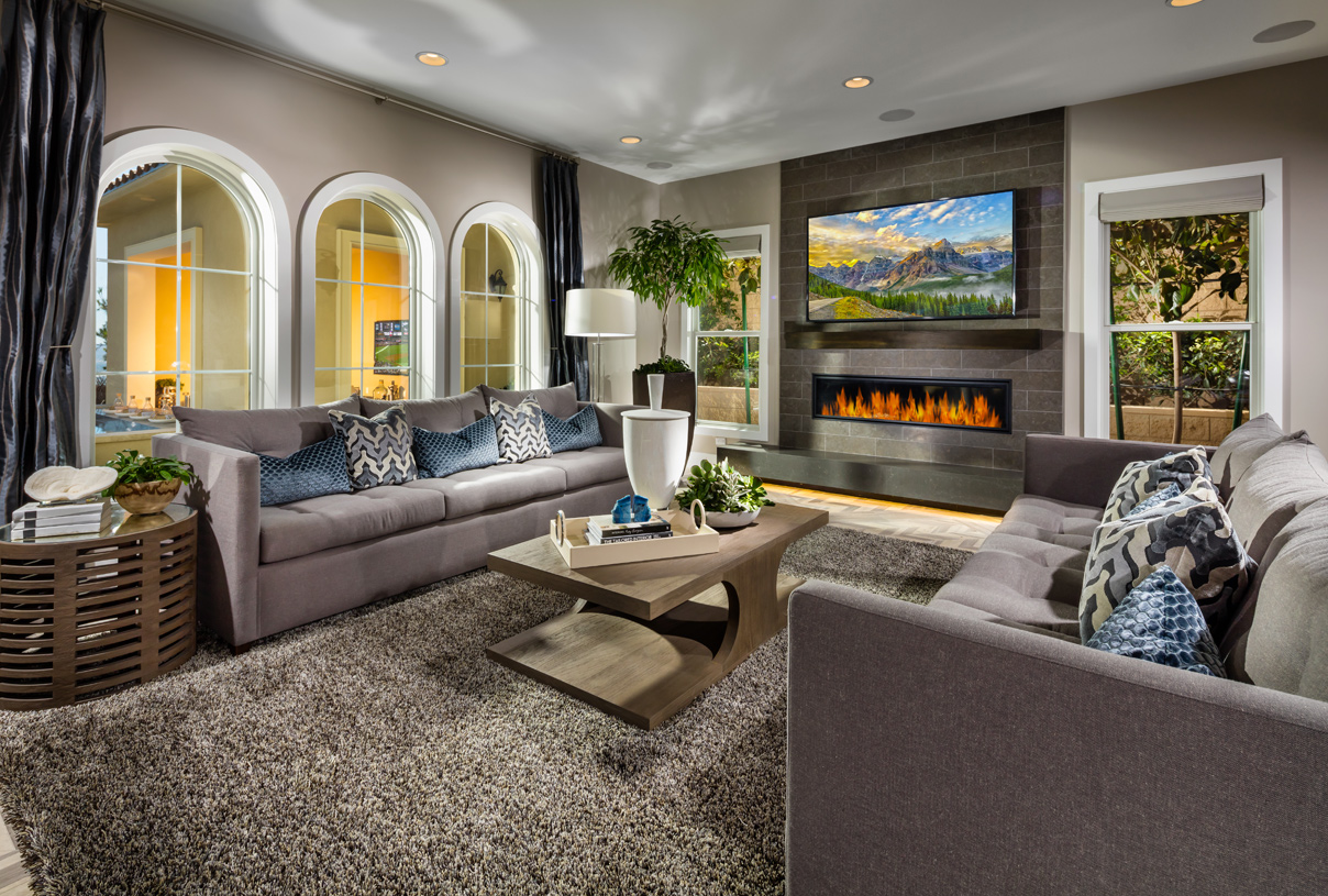 Great room is perfect for entertaining