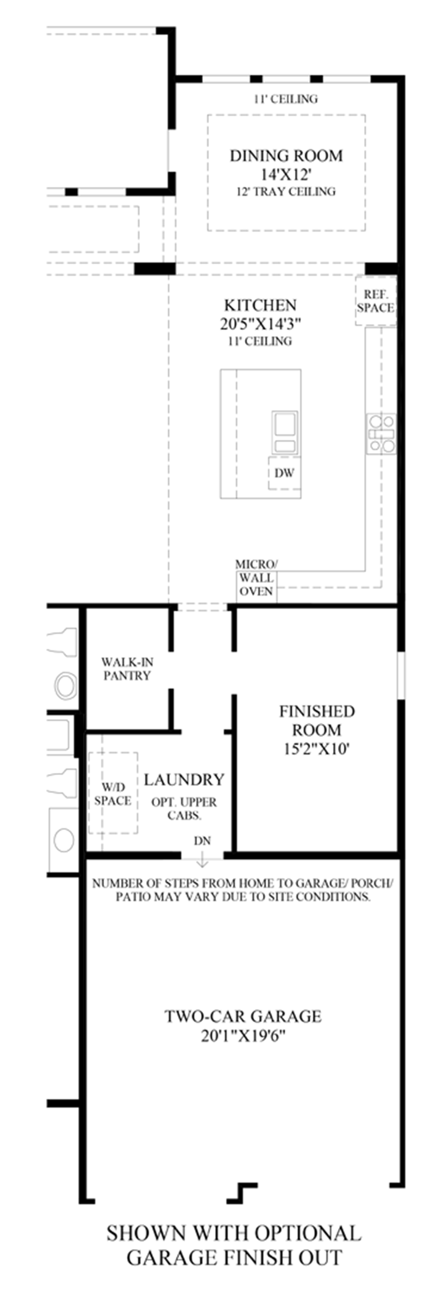Optional Garage Finish Out Floor Plan