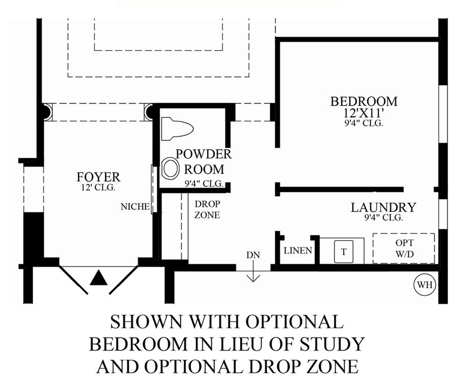 Optional Bedroom & Drop Zone ILO Study Floor Plan