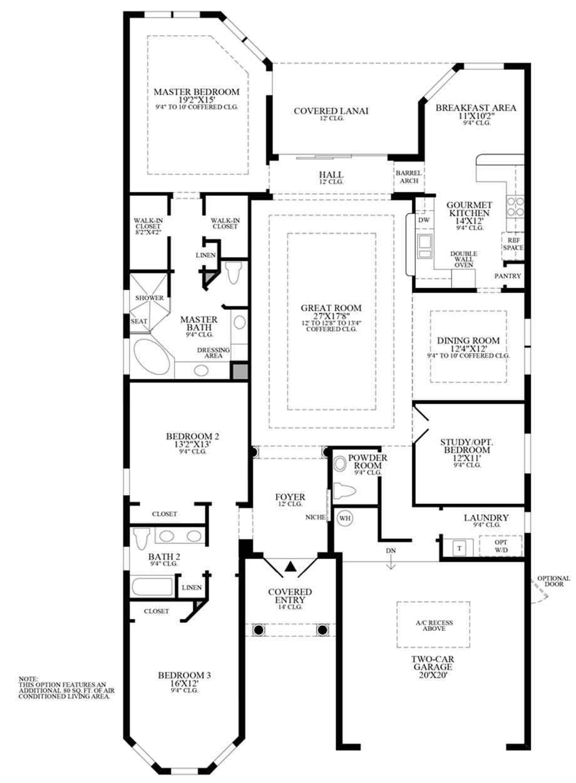 Optional Expanded Bedrooms Floor Plan