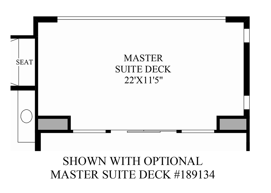 Optional Master Suite Deck Floor Plan