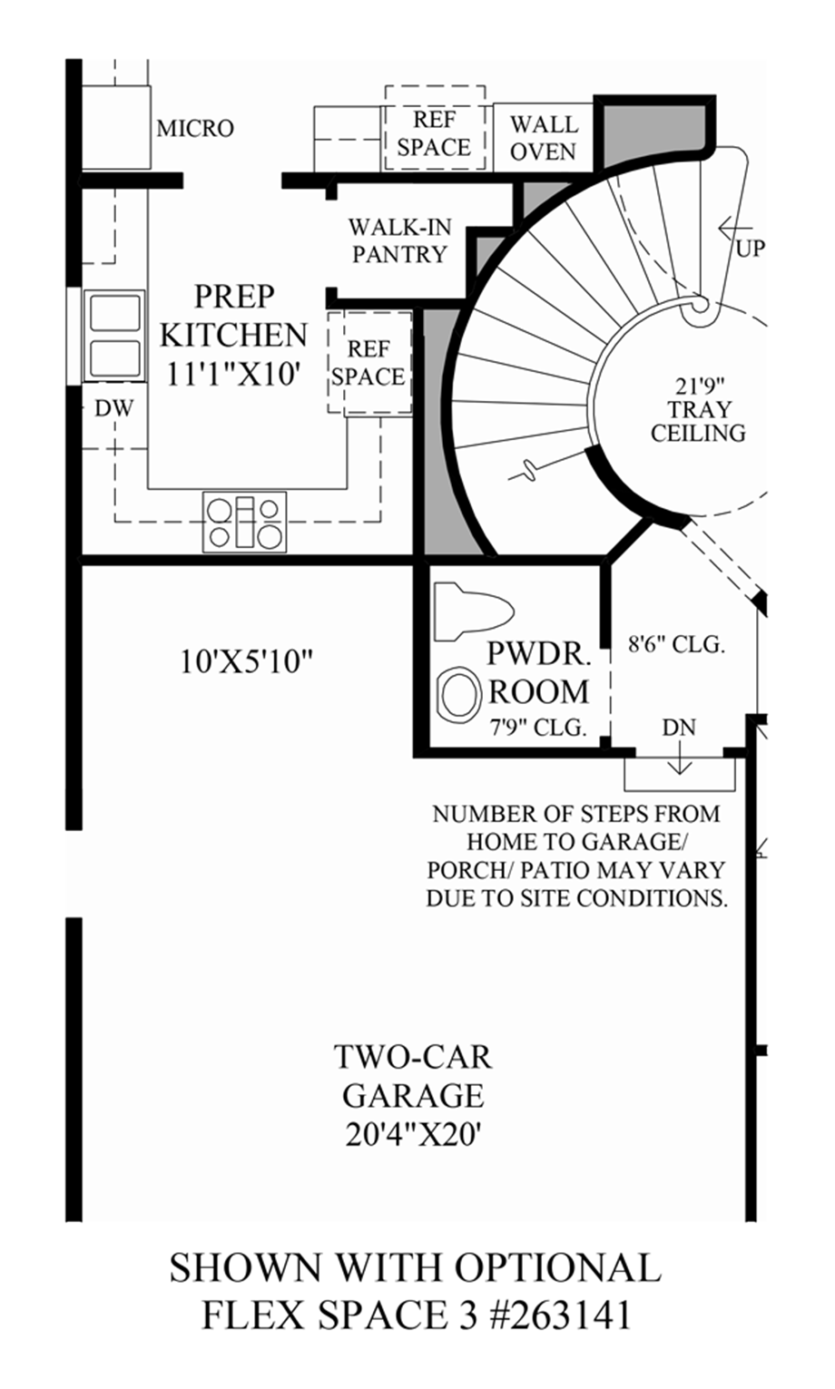 Optional Flex Space 3 Floor Plan