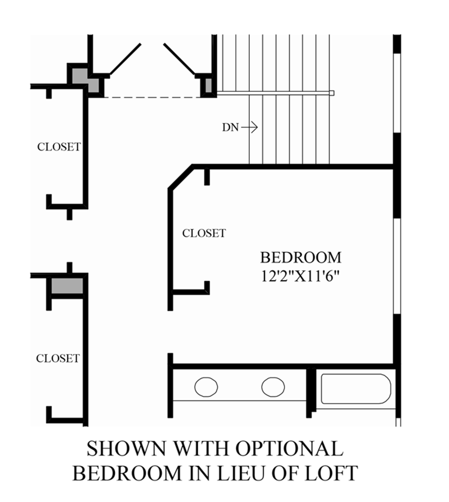 Optional Bedroom ILO Loft Floor Plan