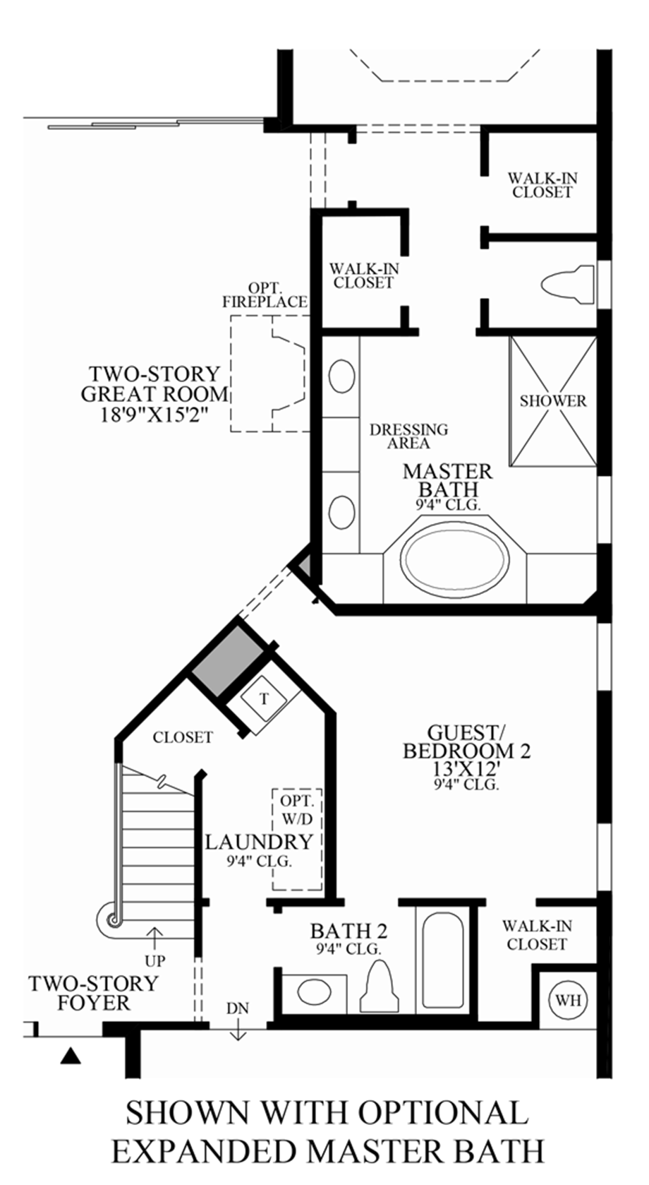 Optional Expanded Master Bath Floor Plan