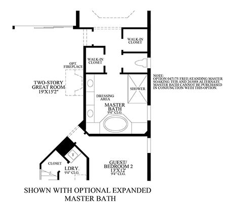 Optional Expanded Master Bath