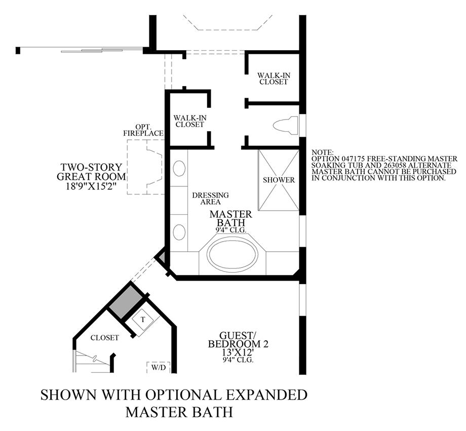 Optional Expanded Master Bath Floor Plan