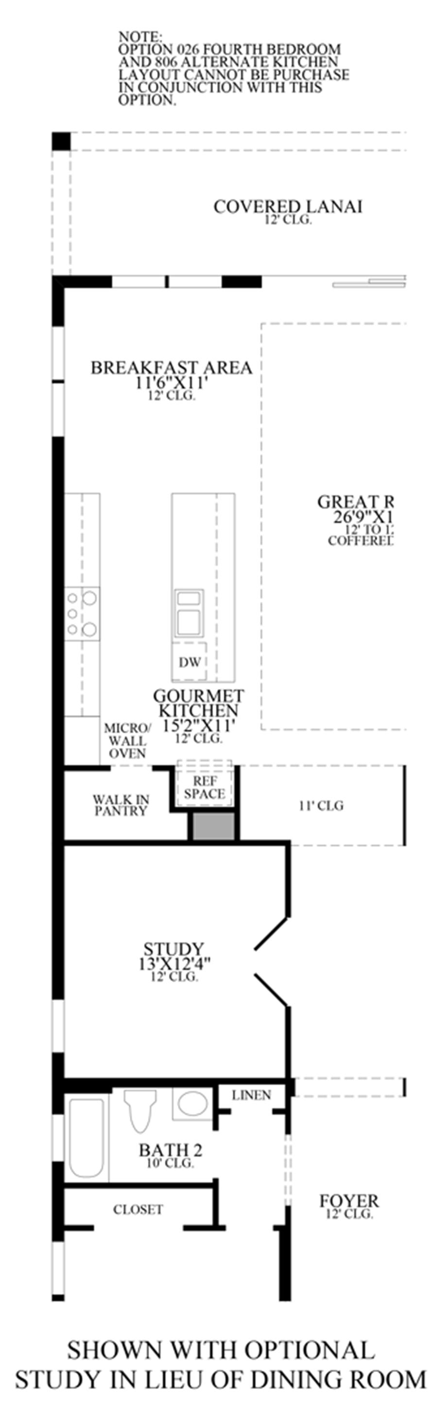 Optional Study ILO Dining Room Floor Plan