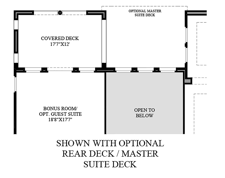Optional Rear Deck/Master Suite Deck
