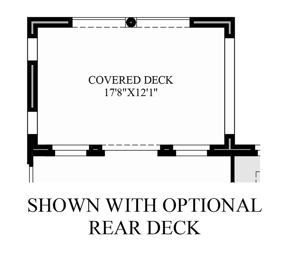 Optional Rear Deck Floor Plan