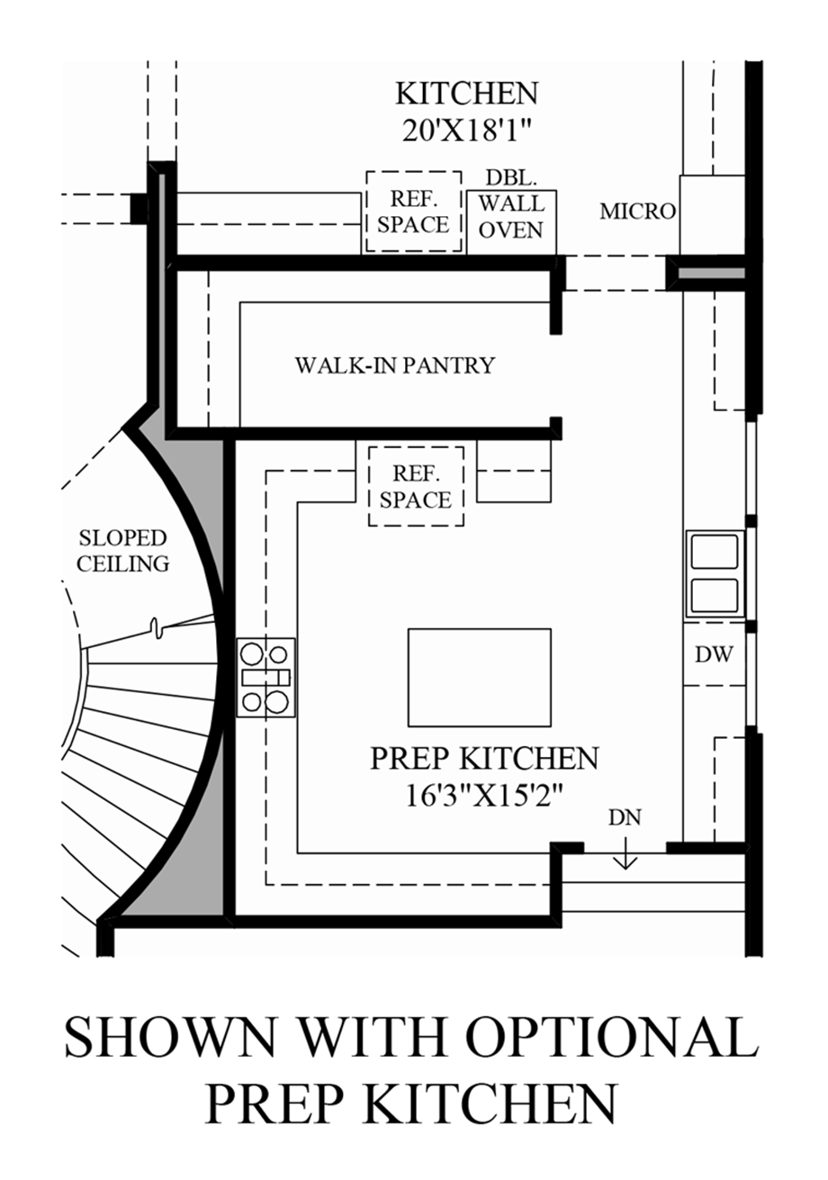 Westcliffe at porter ranch palisades collection the for Design your own kitchen floor plan