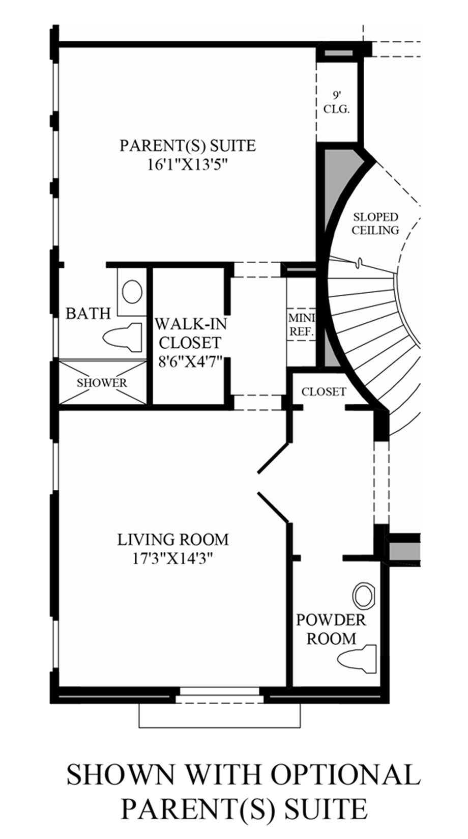 Optional Parents Suite Floor Plan