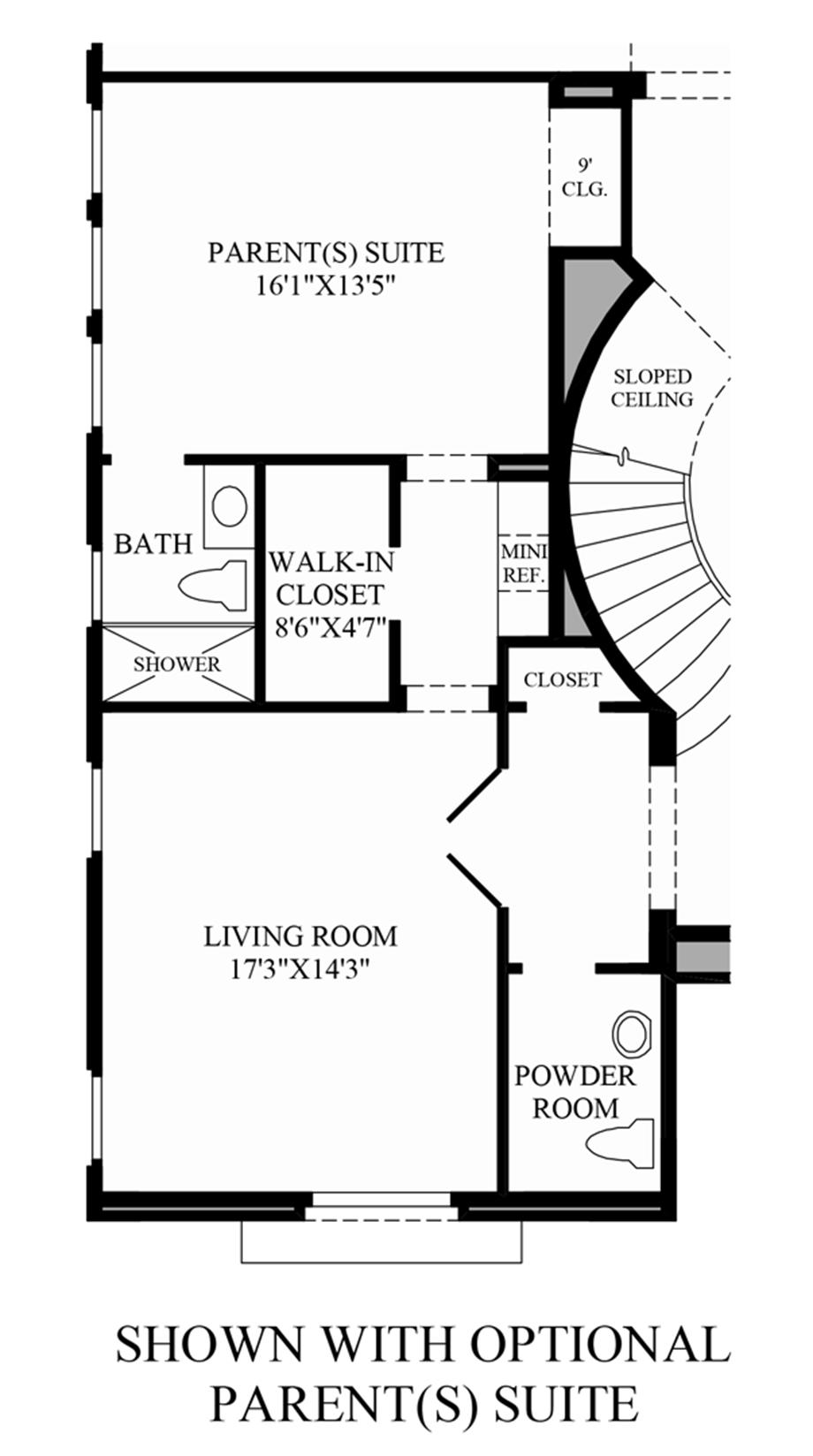 Optional Parents Suite Floor Plan