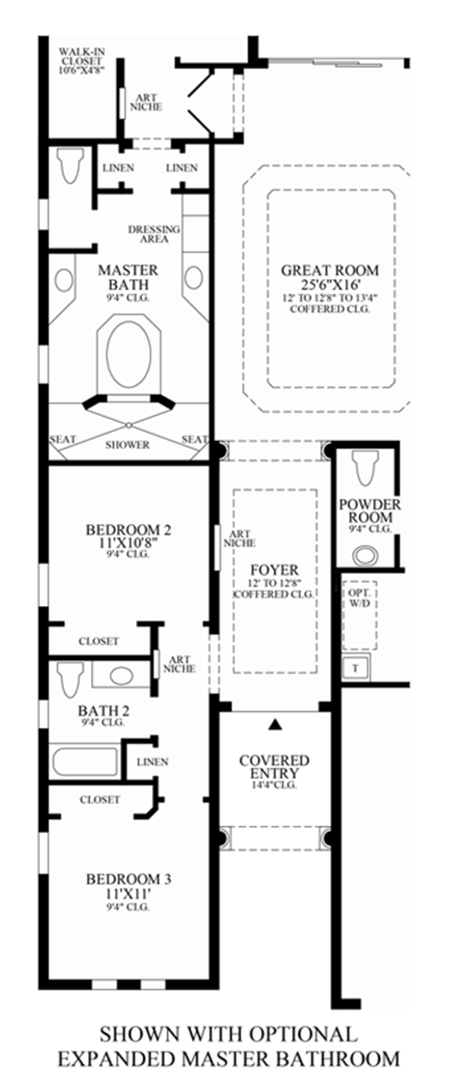 Optional Expanded Master Bathroom Floor Plan