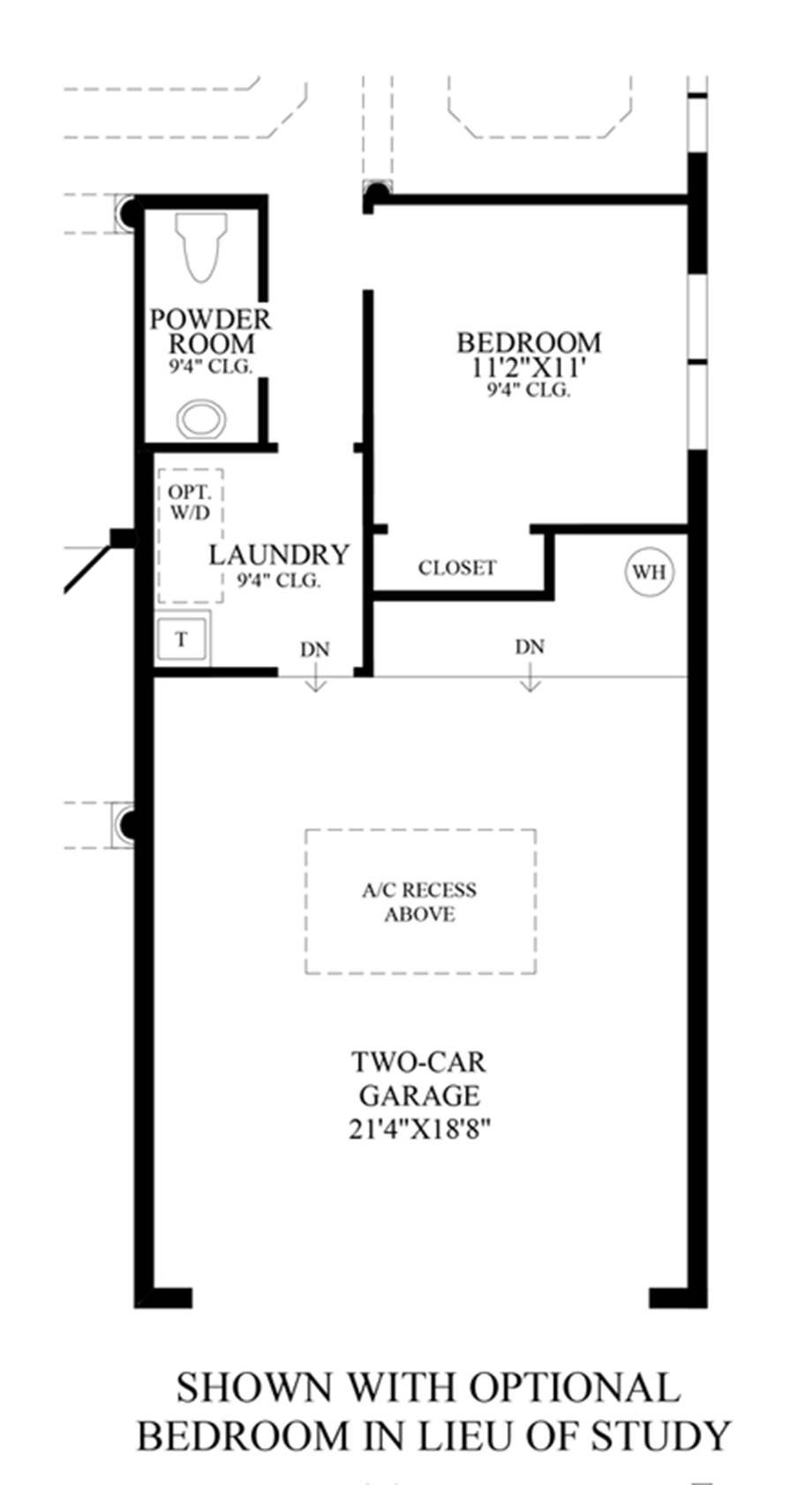 Optional Bedroom ILO Study Floor Plan