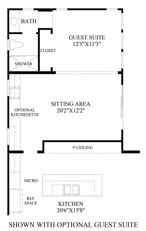 Optional Guest Suite Floor Plan