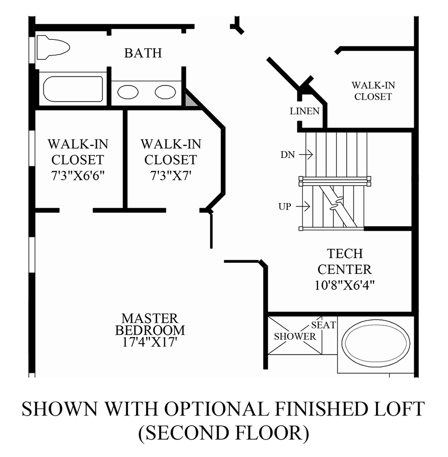 Optional Finished Loft (2nd Floor) Floor Plan