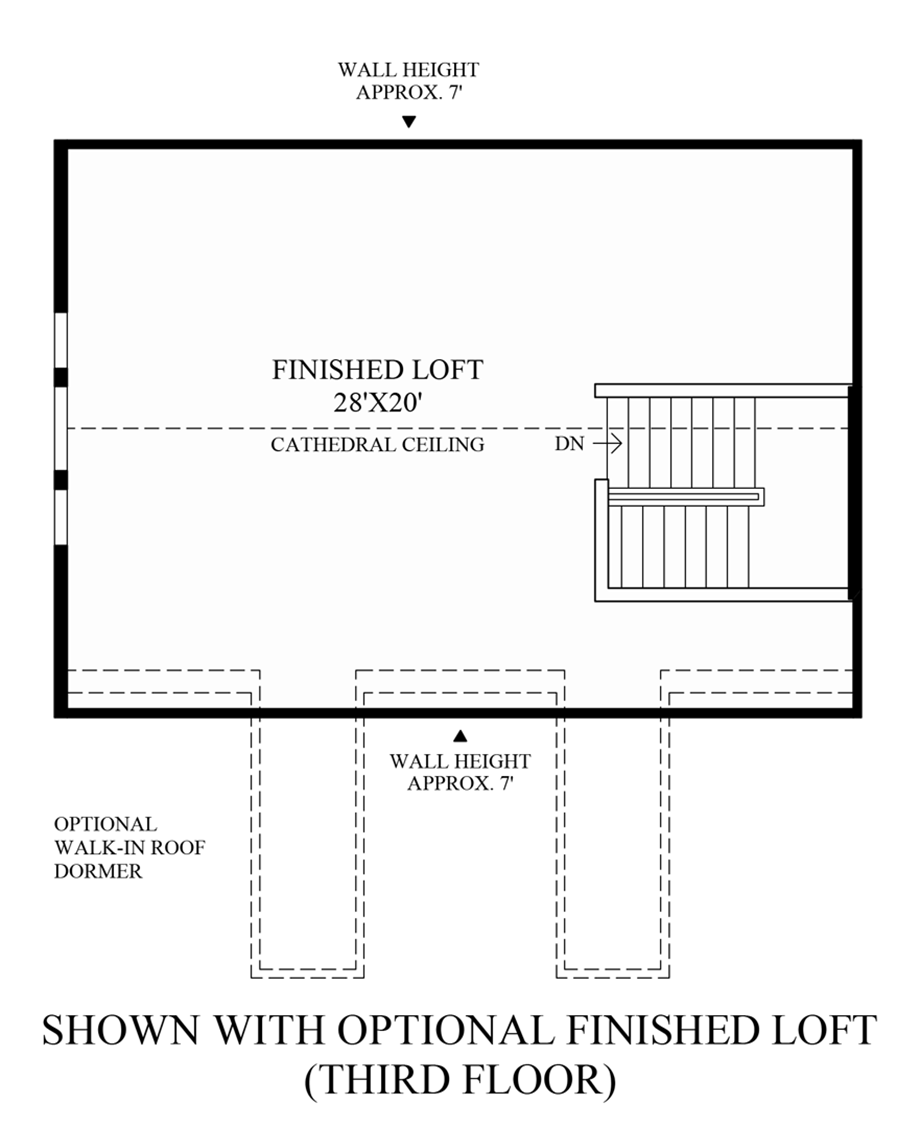 Optional Finished Loft (3rd Floor) Floor Plan