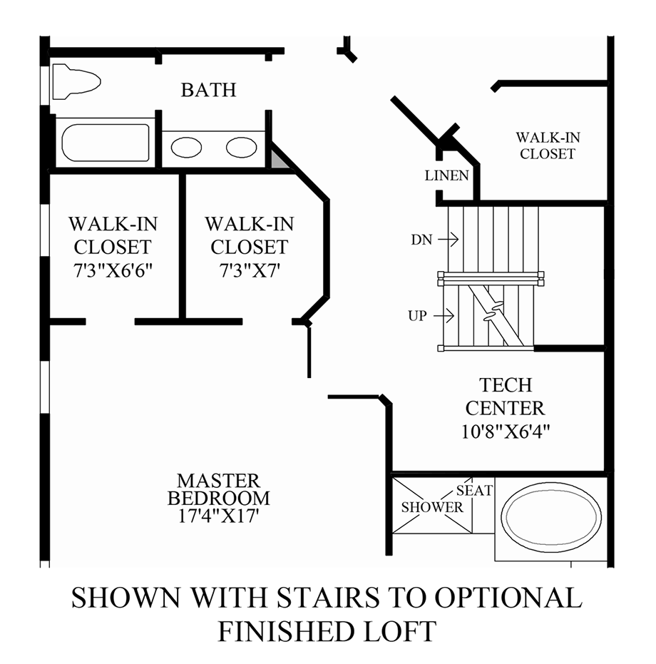 Optional Stairs to Finished Loft Floor Plan