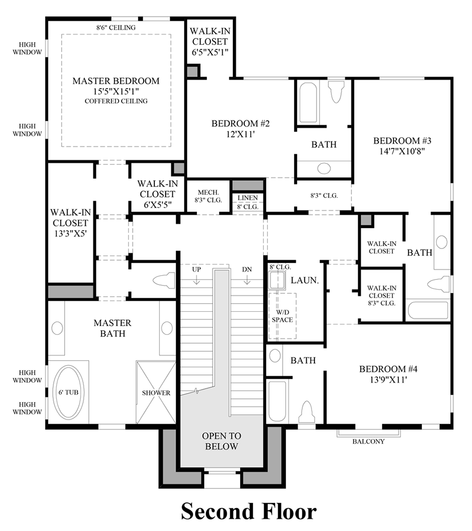 2nd Floor Floor Plan