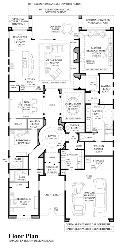 Montevista desert willow collection quick delivery home for Spanish colonial floor plans