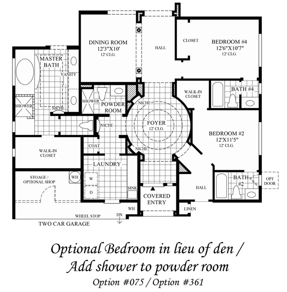 Optional Bedroom Floor Plan