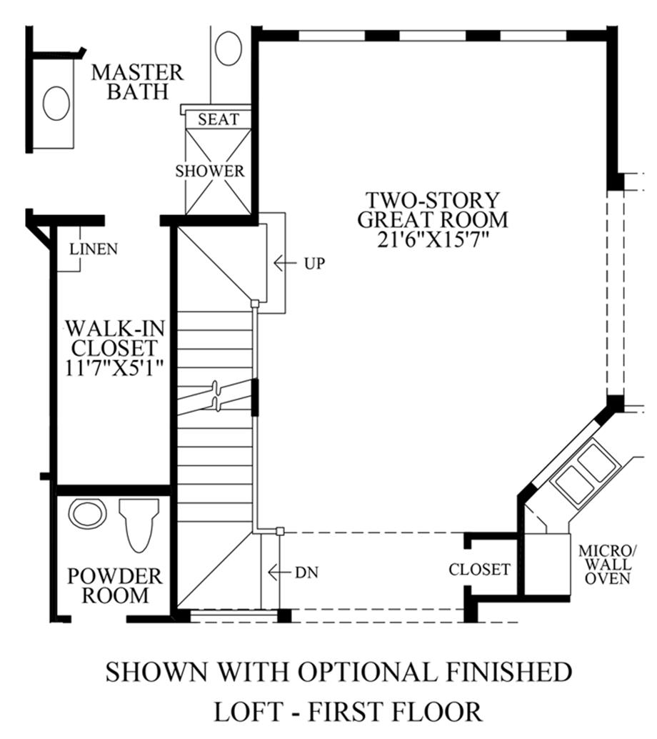 Optional Loft - 1st Floor Floor Plan