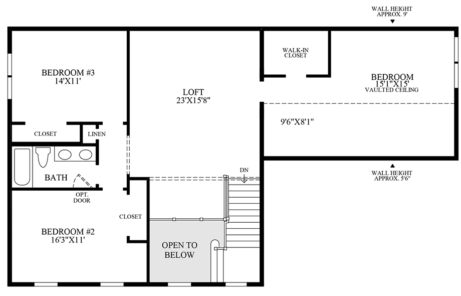 Optional Additional 4th Bedroom Floor Plan