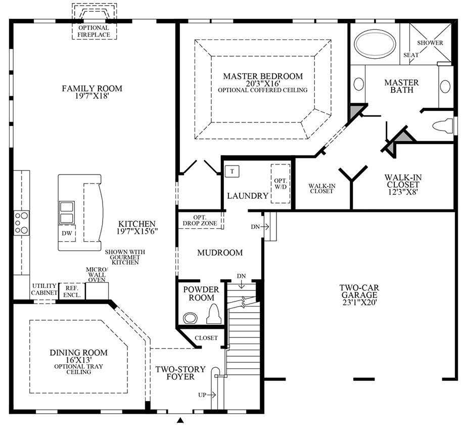 Optional Alternate Kitchen/Dining Room Floor Plan