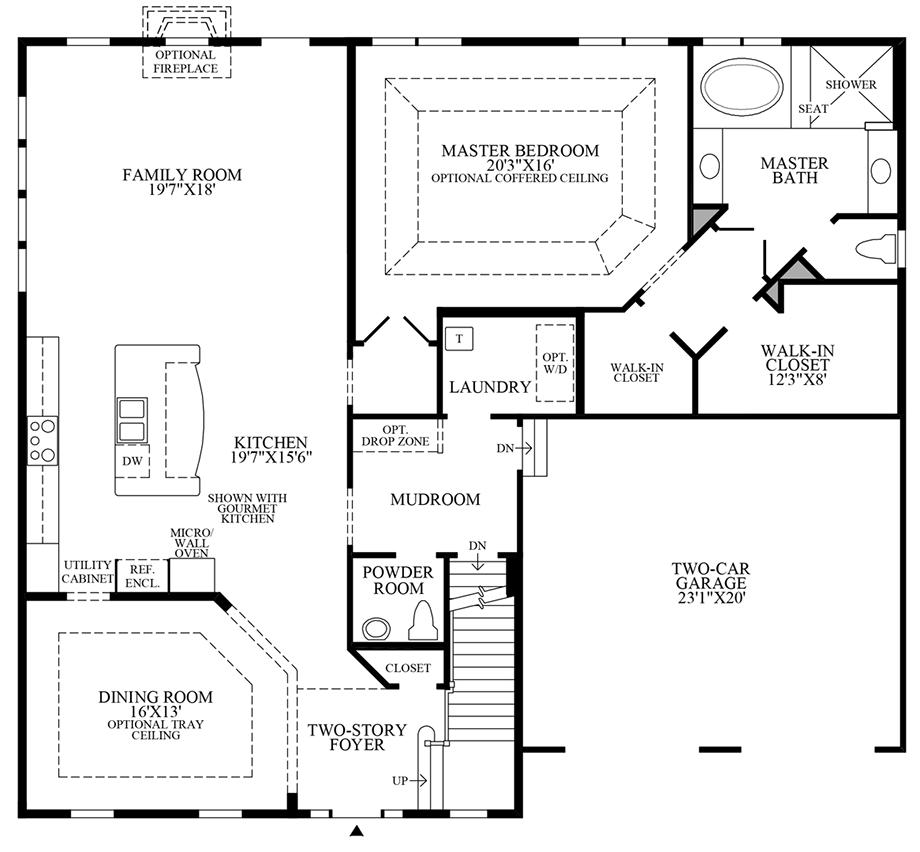 Optional Alternate Kitchen/Dining Room Floor Plan