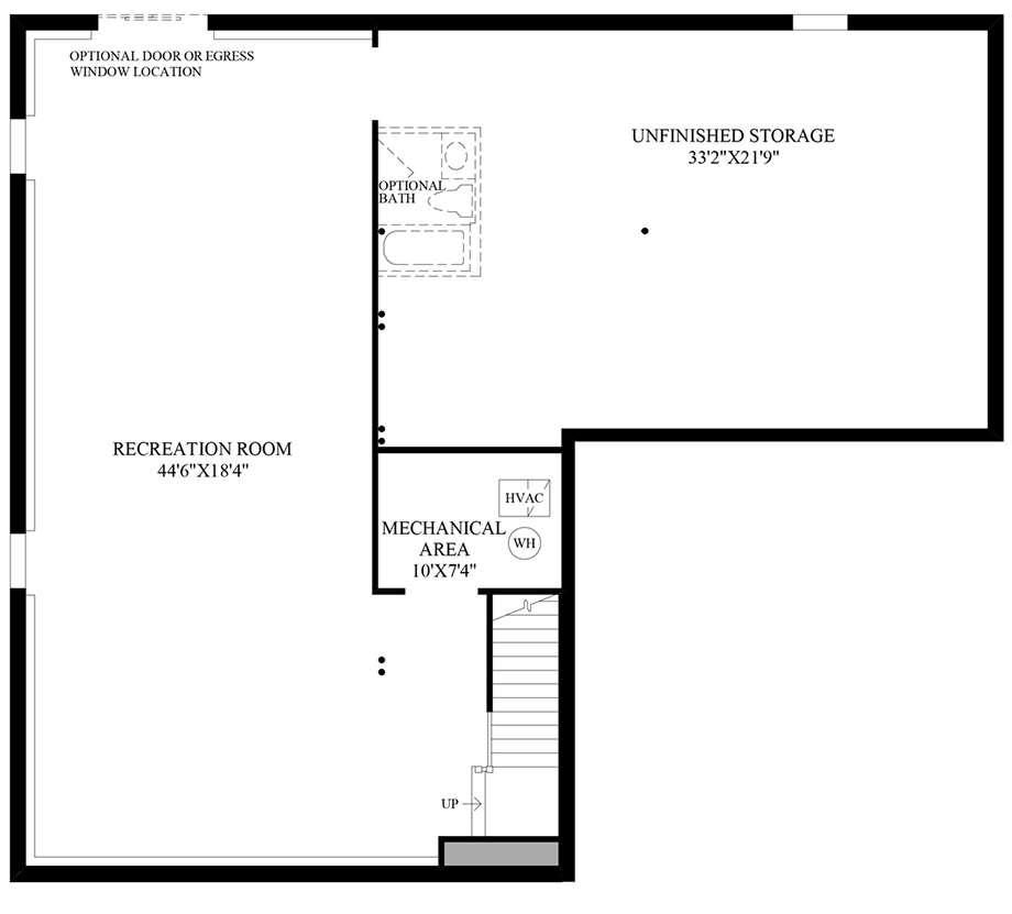 Optional Finished Lower Level Floor Plan