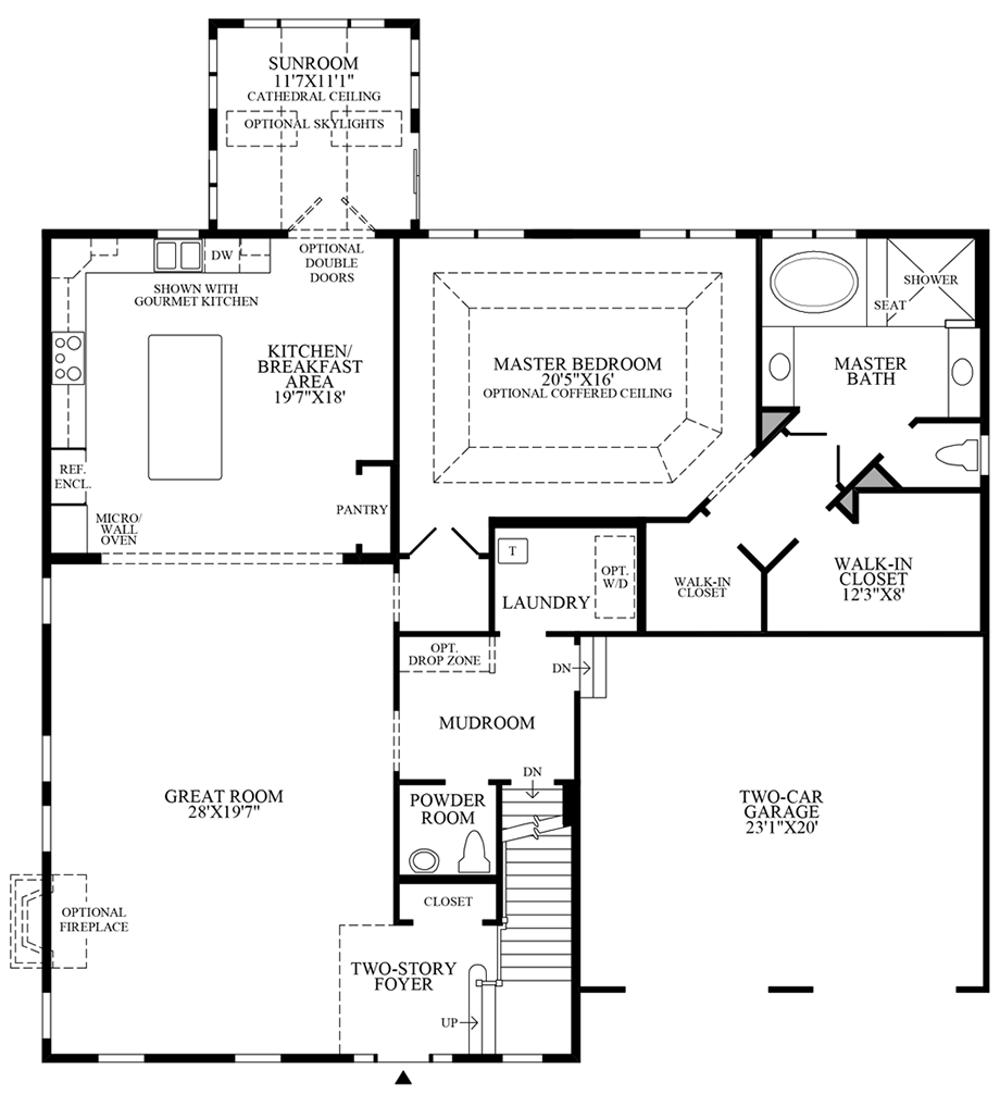 Optional Sunroom Floor Plan